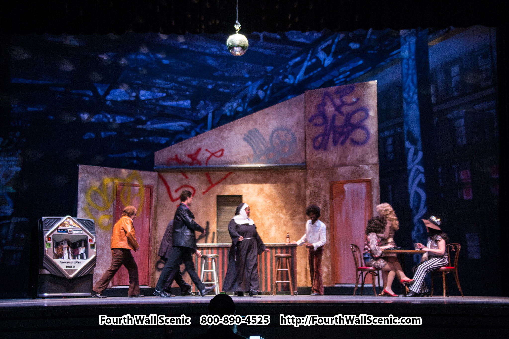 Sister Act Rental Set - Fourth Wall Scenic - 800-890-4525