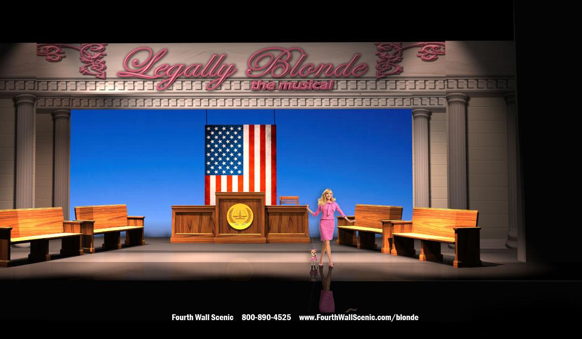 Legally Blonde Rental Set - Court Room- Harvard Gates