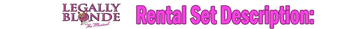Legally Blonde rental set description banner