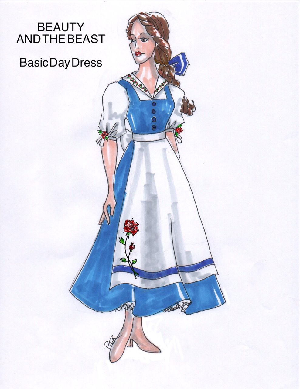 Beauty and the Beast rental costumes Belle Fourth Wall Scenic