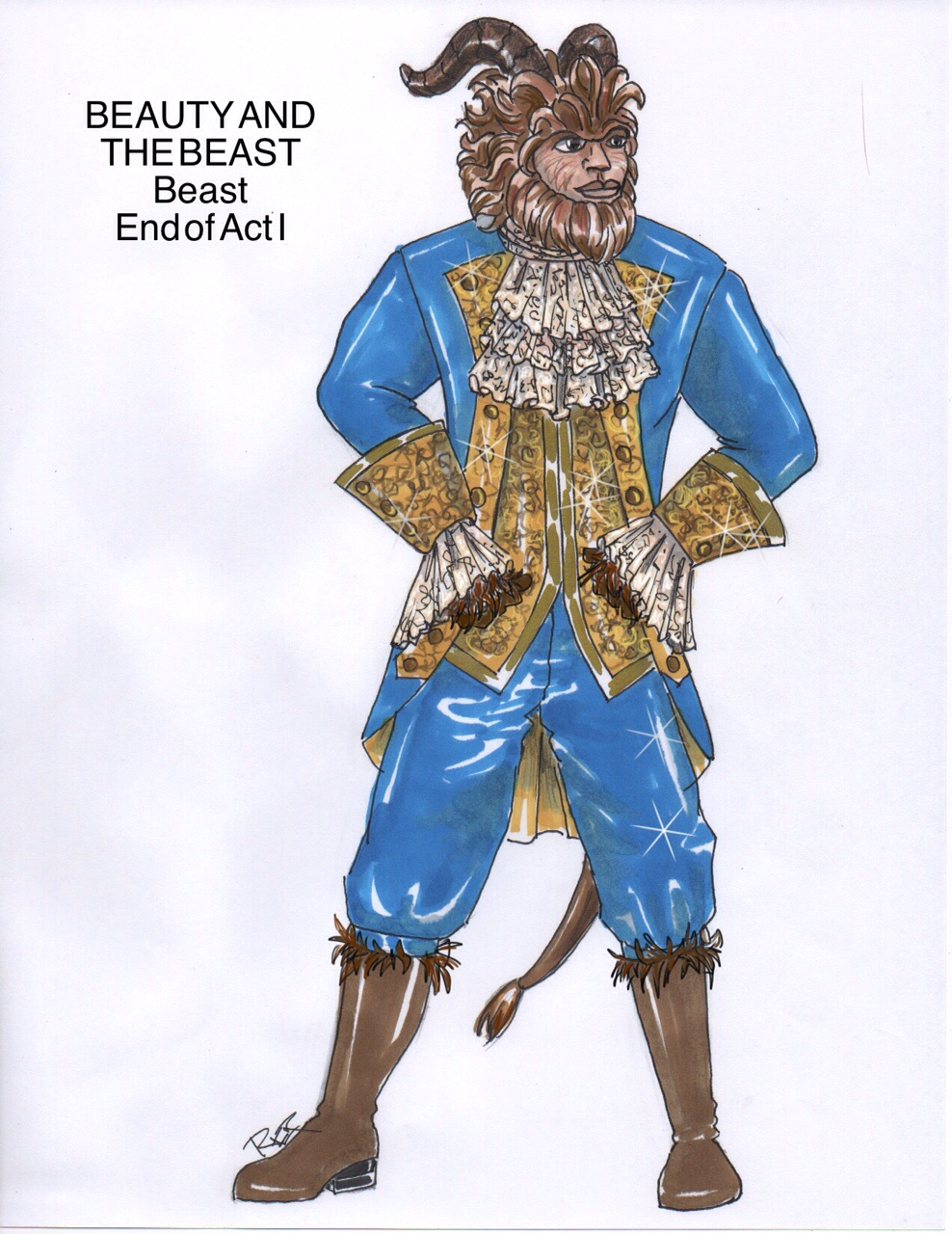 Beauty and the Beast rental costumes Beast Fourth Wall Scenic