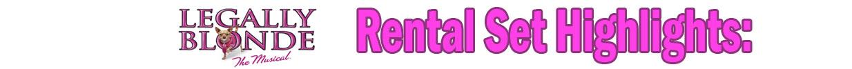 Legally Blonde rental set highlights banner