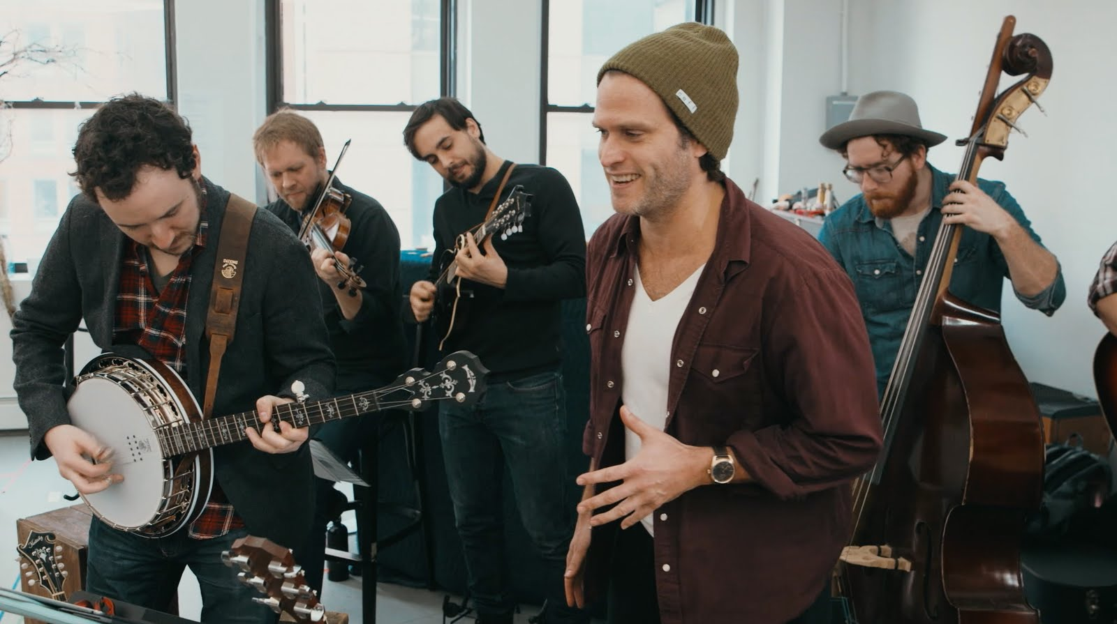 Steven Pasquale and the cast and band of The Robber Bridegroom perform songs from the...