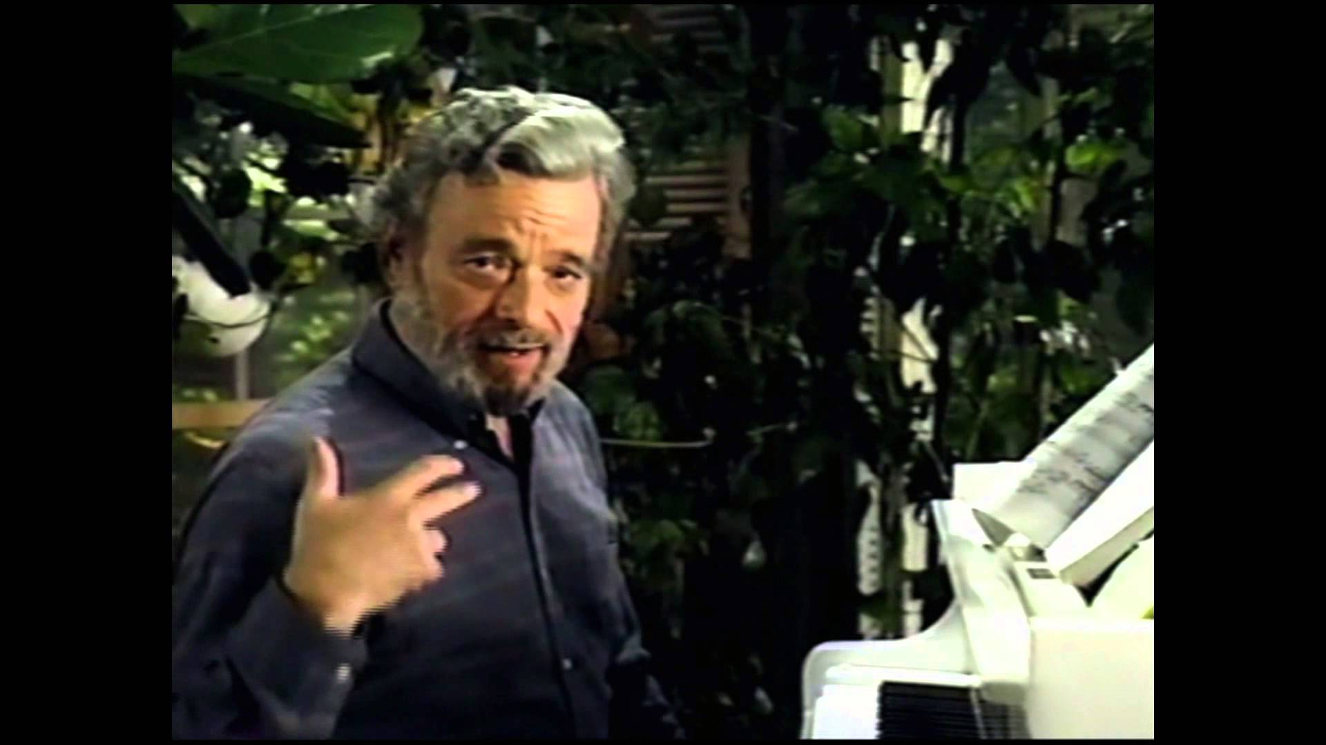 "Composer Stephen Sondheim discusses the ""Bean theme"" in Into the Woods"