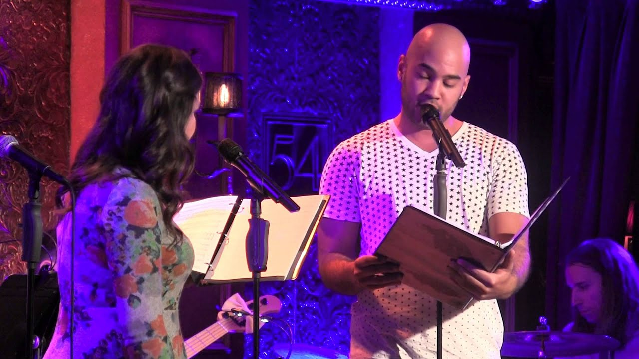 "Lindsay Mendez and Nicholas Christopher perform ""One Look at You"" as part..."