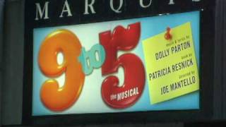 A look at the first preview for 9 to 5 on Broadway