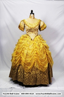 Beauty and the Beast costume rental package Belle golden dress; Fourth Wall Scenic