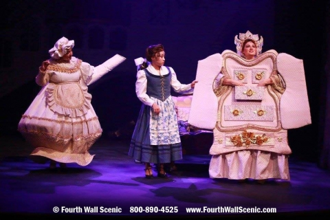 Beauty and the Beast costume rental package wardrobe, ms potts and belle; Fourth Wall Scenic