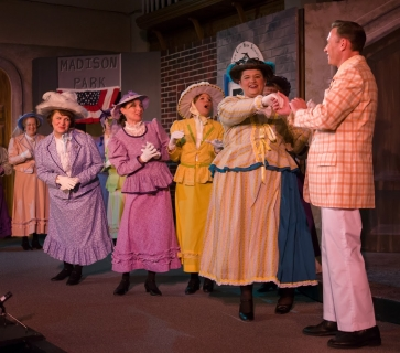 The Music Man - Pick-a-Little Ladies Costumes (Eulalie Mackecknie Shinn, Alma Hix, Mrs. Squires, Ethel Toffelmier and Maud Dunlop)