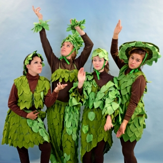Mary Poppins Topiary Plants Hedges Costumes