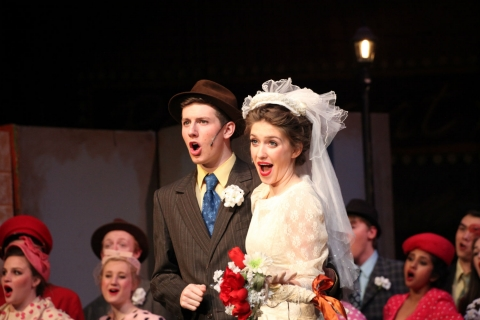 Guys & Dolls - Miss Adelaide & Nathan Detroit Wedding Costumes