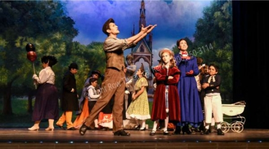 The Park  - Mary Poppins set rental - Front Row Theatrical - 800-250-3114