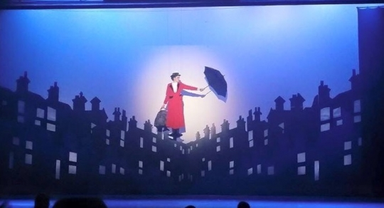 Mary Poppins - Mary Poppins Flying Red Suit Costume