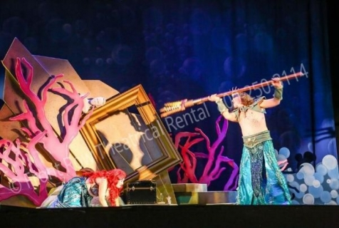 Little Mermaid King Triton - set rental - Front Row Theatrical - 800-250-3114