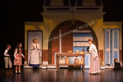 The Kitchen - Mary Poppins set rental - Front Row Theatrical - 800-250-3114