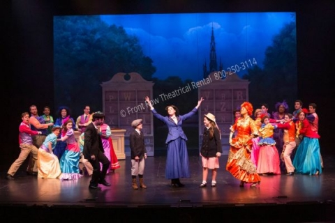 The Talking Shop - Mary Poppins set rental - Front Row Theatrical - 800-250-3114