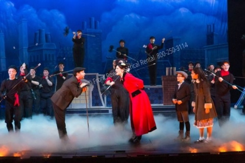 Rooftops - Mary Poppins set rental - Front Row Theatrical - 800-250-3114