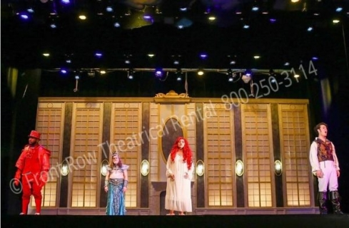 Little Mermaid the castle - set rental - Front Row Theatrical - 800-250-3114