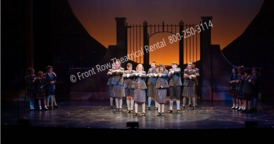Matilda Musical Playground Gates set - set rental - Front Row Theatrical - 800-250-3114