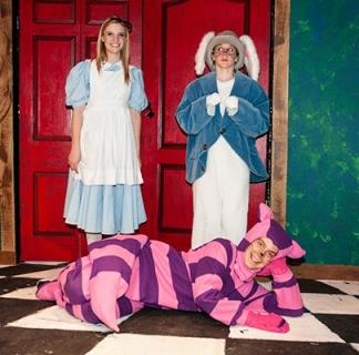 Alice in Wonderland - Alice, White Rabbit, & Cheshire Cat Costumes