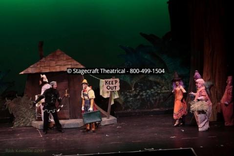 Shrek musical rental set - Stagecraft Theatrical - 800-499-1504