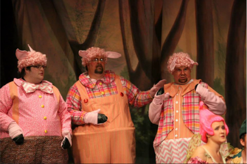 Shrek the musical three little pics costumes