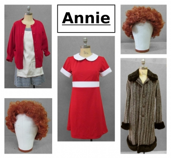 Annie Child Costume Girl Red Dress Broadway Musical Movie