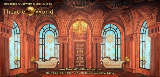 Baroque Parlor Scenic Backdrop