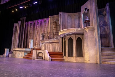 Beauty and the Beast Castle- set rental - Front Row Theatrical - 800-250-3114