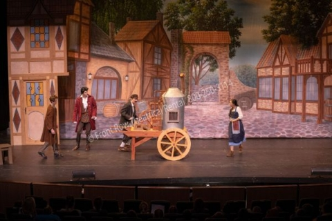 Beauty and the Beast Village- set rental - Front Row Theatrical - 800-250-3114