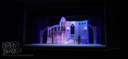 Beauty and the Beast the castle with west wing- set rental - Stagecraft Theatrical - 800-499-1504