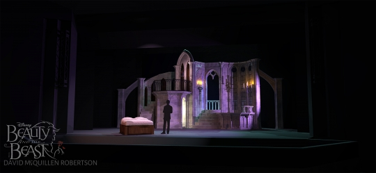 Beauty and the Beast Belles bedroom- set rental - Stagecraft Theatrical - 800-499-1504