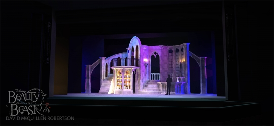 Beauty and the Beast the west wing- set rental - Stagecraft Theatrical - 800-499-1504