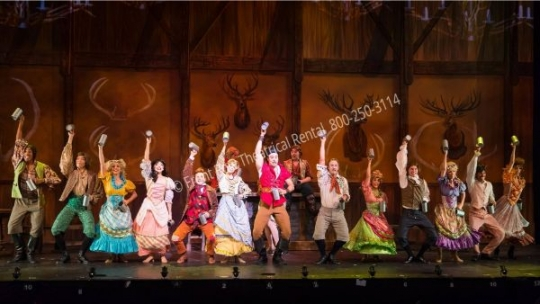 Beauty and the Beast Tavern - set rental - Front Row Theatrical - 800-250-3114