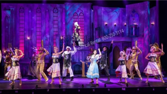 Beauty and the Beast - set rental - Front Row Theatrical - 800-250-3114