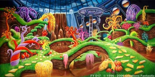 Chocolate Factory FY017 20x40 Willy Wonka Backdrop