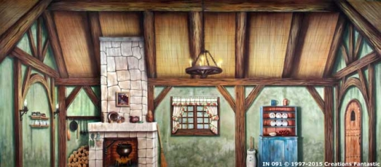 Cottage Interior 2 IN019 17x40 Willy Wonka Backdrop