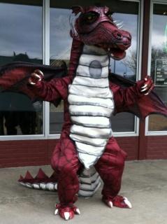 Shrek the Musical Precious Dragon Mascot Costume