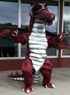 how to make the dragon from shrek the musical