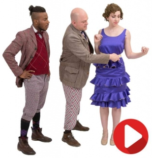 """Rental Costumes for The Drowsey Chaperone - Gangsters w/ Janet Twirl Out Dress """"I Don't Want to Show Off"""""""