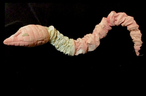 Earth Worm Puppet for James and the Giant Peach