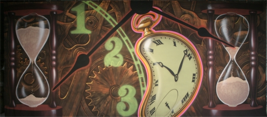 Clock Montage backdrop is a must have for your production of Alice in Wonderland