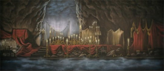 Ominous Underground Lair Backdrop is used in the productions of Beauty and the Beast and Phantom of the Opera