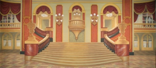 Grand ballroom used in the production of Annie and Cinderella
