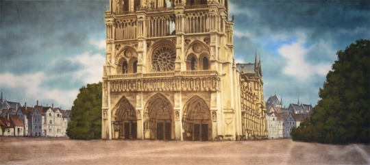 In the production of The Hunchback of Notre Dame you must have the Grosh Digital Projection of the famous Notre Dame