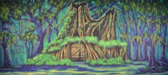 Grosh Digital Projections of Shrek's House used in the show Shrek