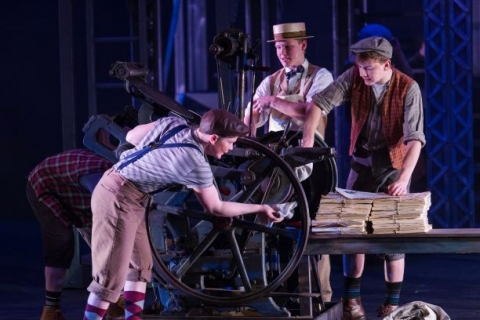 Newsies working printing press for sale