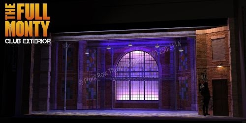 Club Exterior - The Full Monty broadway musical set rental - Front Row Theatrical - 800-250-3114