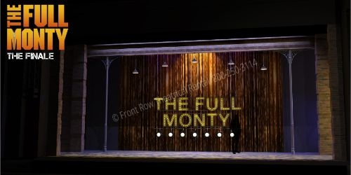 Full Monty Sign - The Full Monty broadway musical set rental - Front Row Theatrical - 800-250-3114