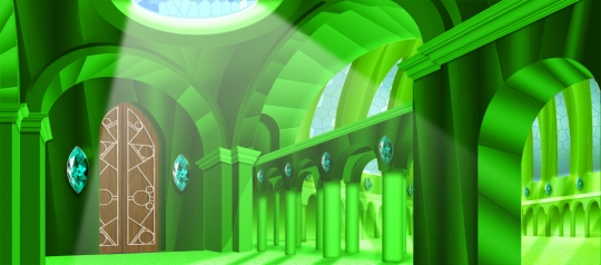 Glowing Oz Emerald City Interior backdrop is ideal for the show The Wizard of Oz